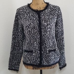 ️MARISA CHRISTINA•blk. & white knit jacket